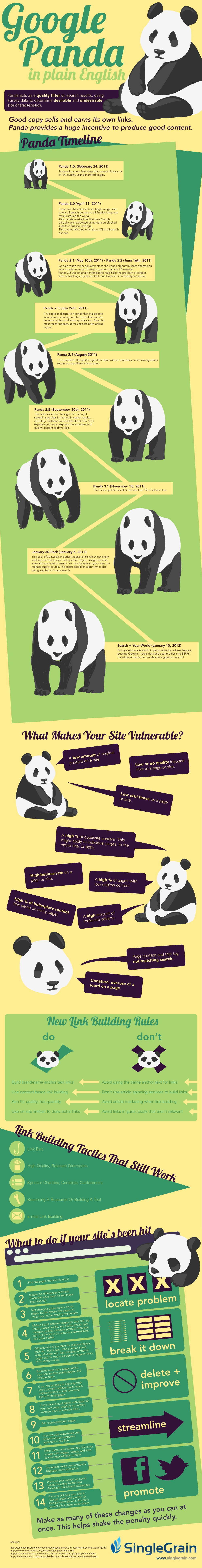 Panda Google Infographie