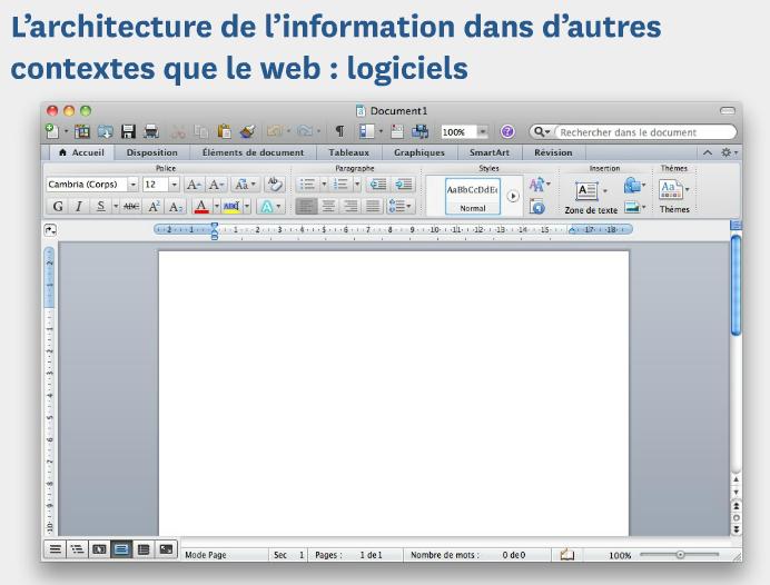L'architecture de l'information-logiciels