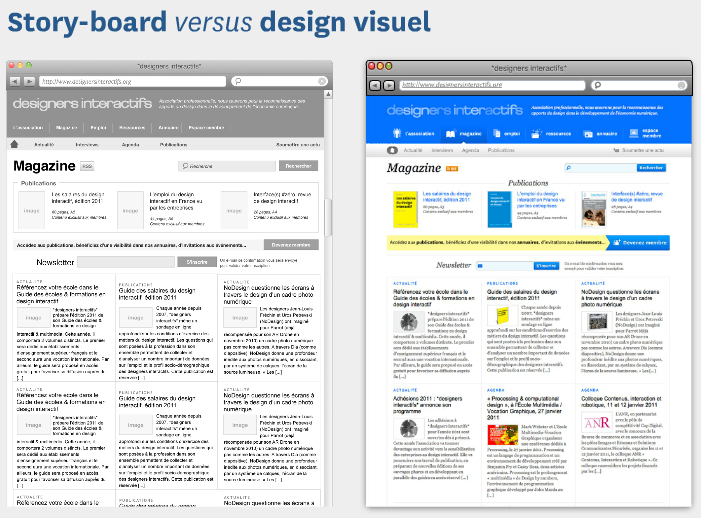 L'architecture de l'information-storyboard versus design visuel