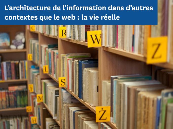 L'architecture de l'information - vie reelle